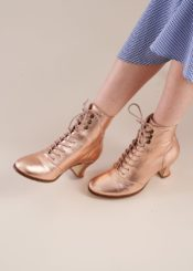 Miss L Fire Alexa Rose Gold Metallic Leather