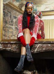 Swedish Stockings Ines Shimmery Socks Black