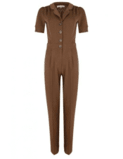 Very Cherry Classic Jumpsuit Caramel