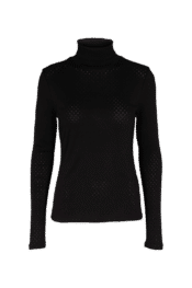 Basic Apparel Arense Roll neck - organic GOTS - Black