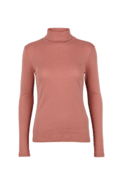 Basic Apparel Arense Roll neck - organic GOTS - Old Rose