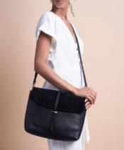 O MY BAG Ella Black Soft Grain Leather