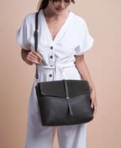 O MY BAG Ella Green Soft Grain Leather
