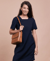 O MY BAG Gina Bag Cognac Classic Leather