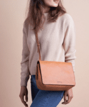 O MY BAG The Lucy Cognac Classic Leather