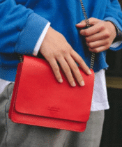 O MY BAG Audrey Mini Red Classic Leather