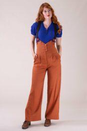 Emmy The Miss Fancy Pants Slacks Cinnamon Linen