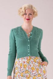 Emmy The Peggy Sue Cardigan Celadon Green