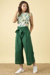 EMILYANDFIN Gilda Tropical Green Trousers