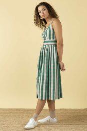 EMILYANDFIN Imogen Botanical Plaid Dress