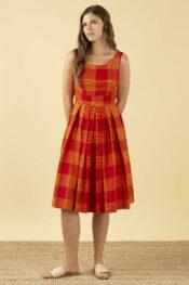 EMILYANDFIN Isobel Heatwave Check Dress