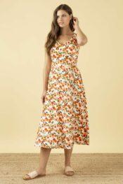 EMILYANDFIN Margot Mini Summer Oranges Dress