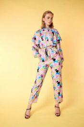 Hunkøn Caya Trousers Candy Clouds Art Print