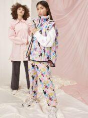 Hunkøn Grace Quilt Trousers Candy Clouds Art Print