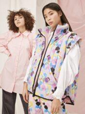 Hunkøn Grace Vest Candy Clouds Art Print
