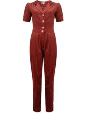 Very Cherry Classic Jumpsuit Corduroy Marsala