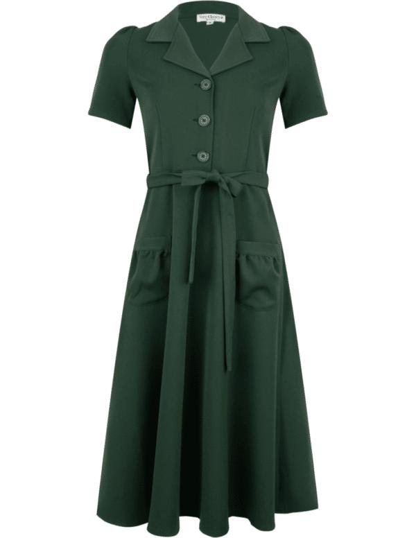 Very Cherry Revers Dress Midi Green