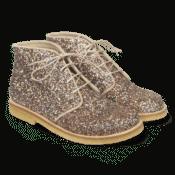Angulus Støvle Med Snører Multi Glitter Sand