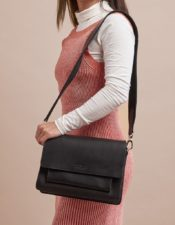 O MY BAG Harper Black Classic Leather