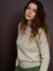 Serendipity Llama Twist Sweater Creme