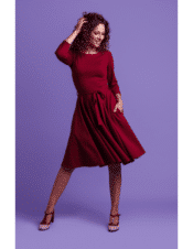 Very Cherry Ballerina Dress Punty Burgundy