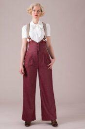 Emmy The Miss Fancy Pants Slacks Burgundy Tweed