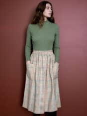 Serendipity Brushed Pocket Skirt Rainbow Checks